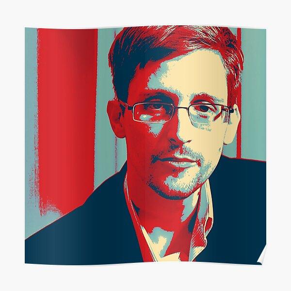 Popart Edward Snowden Poster