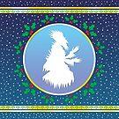 Jack Frost - Arctic Blue Fresco by Hypnogoria