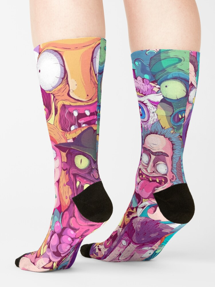 Alternate view of Rick and Morty - Interdimentional Doodle Socks
