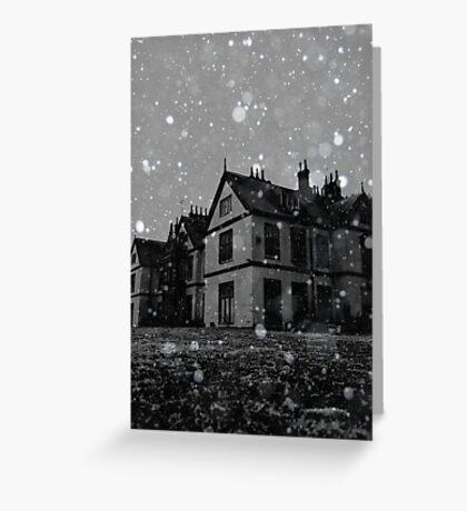Snow ~ Pool Park Asylum Greeting Card