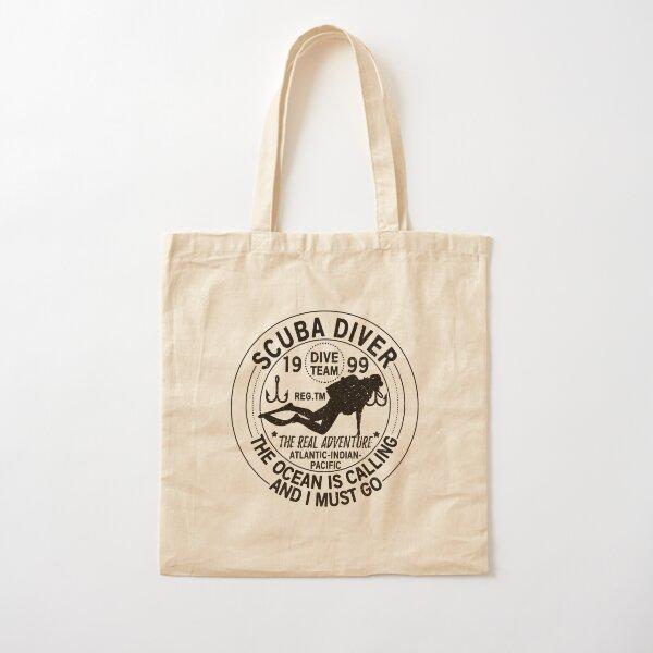 Scuba Sea Diver Cotton Tote Bag