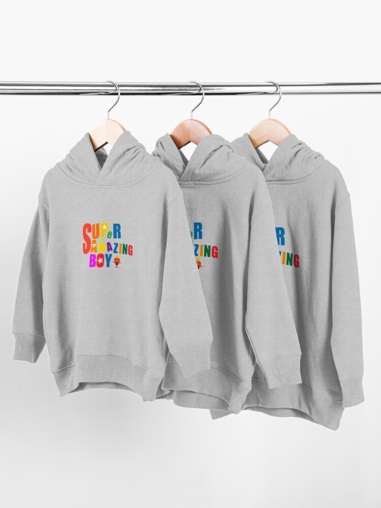 Alternate view of Super Simple Songs Boy - Super Simple Amazing Boy- Best Boy - Love You Amazing Little Boy Toddler Pullover Hoodie