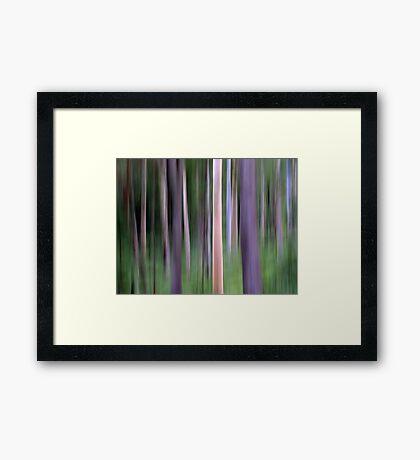 Purple Forest Impression Framed Print
