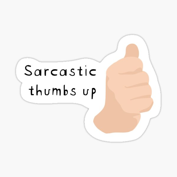 Lando Norris - Sarcastic thumbs up - F1 Sticker