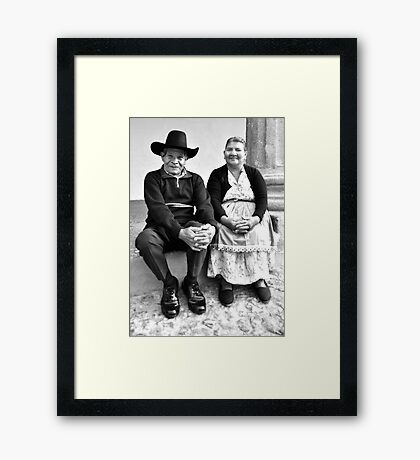For 33 Years (B&W) Framed Print