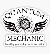 QUANTUM MECHANIC (blk) Sticker