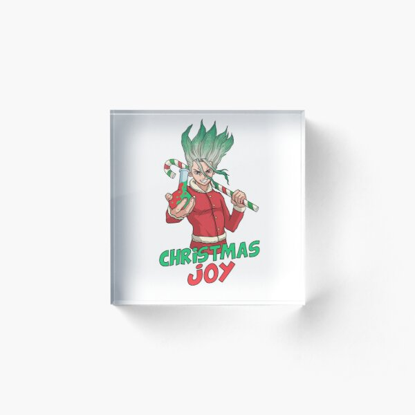 Dr. Stone Christmas (Senku) Acrylic Block