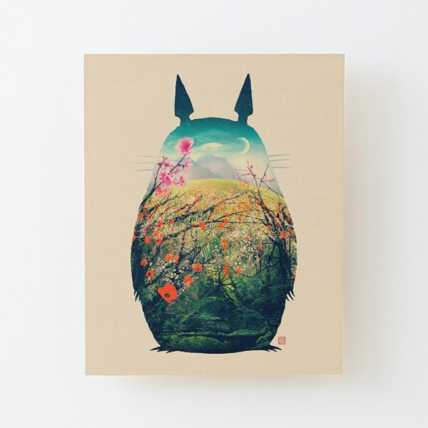 Tonari No Totoro Wood Mounted Print