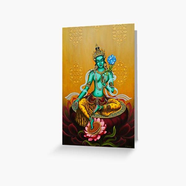 Green Tara Greeting Card