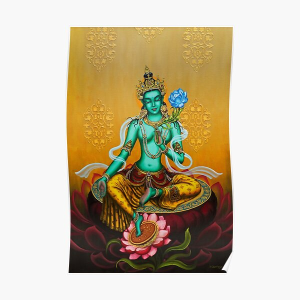 Green Tara Poster