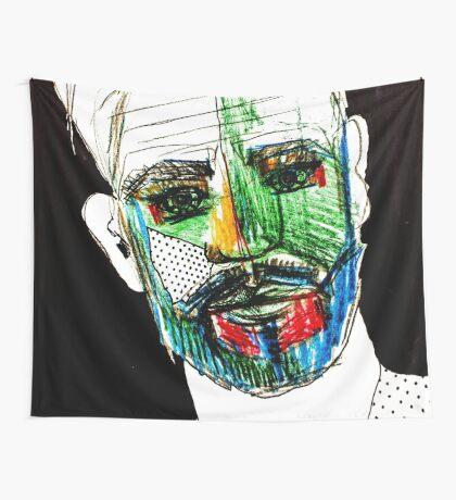 BAANTAL / Hominis / Faces #9 Wall Tapestry