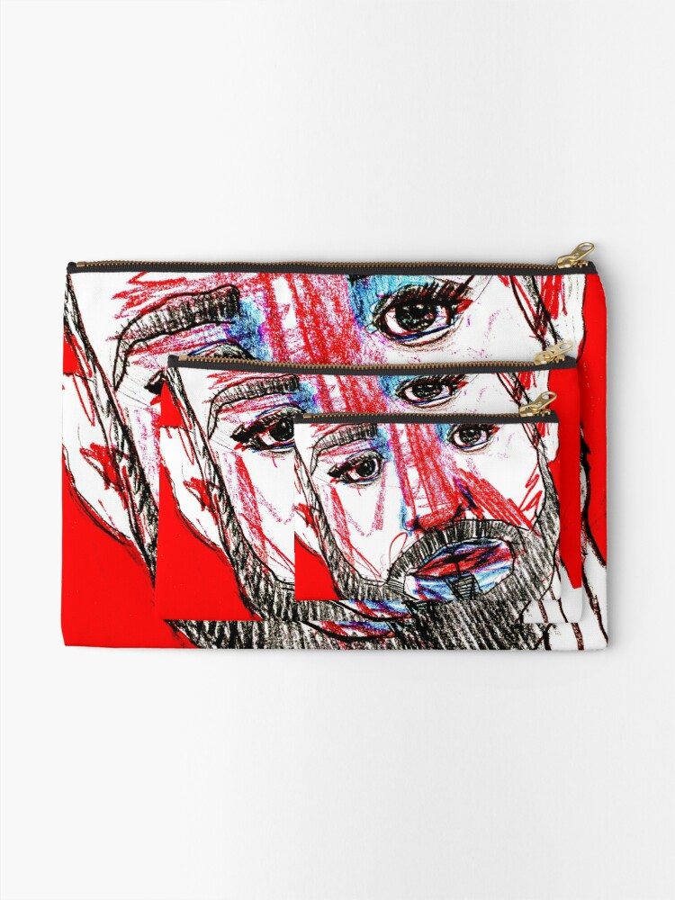 Alternate view of BAANTAL / Hominis / Faces #11 Zipper Pouch