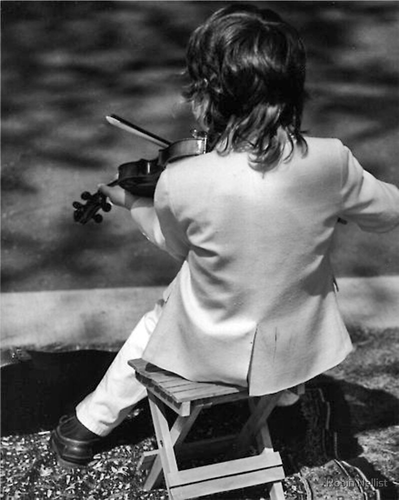 Young Violinist by Robin Nellist