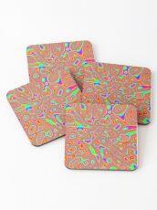 Abstract random colors #3 Coasters
