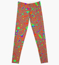Abstract random colors #3 Leggings