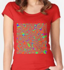 Abstract random colors #3 Fitted Scoop T-Shirt