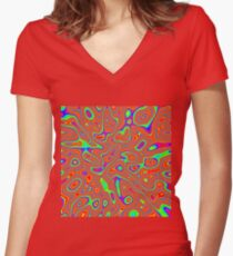 Abstract random colors #3 Fitted V-Neck T-Shirt