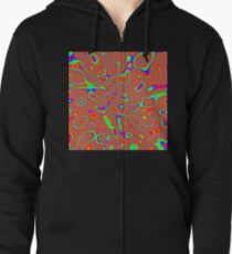 Abstract random colors #3 Zipped Hoodie
