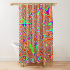 Abstract random colors #3 Shower Curtain