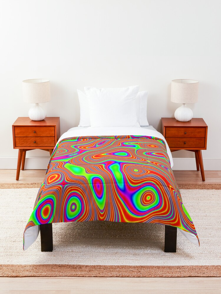 Alternate view of Abstract random colors #3 Comforter