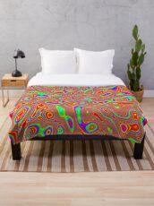 Abstract random colors #3 Throw Blanket