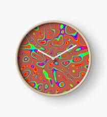 Abstract random colors #3 Clock