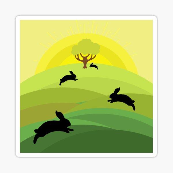 Rabbit going home - Watership Down Sticker
