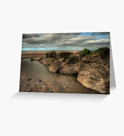 Cleveleys Rock Pool Greeting Card
