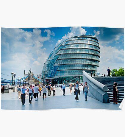 City Hall: London, UK. Poster
