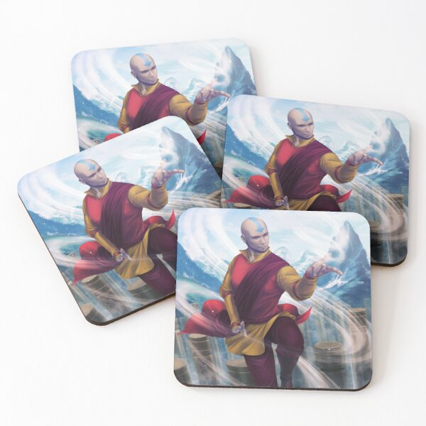 Avatar Aang Coasters (Set of 4)