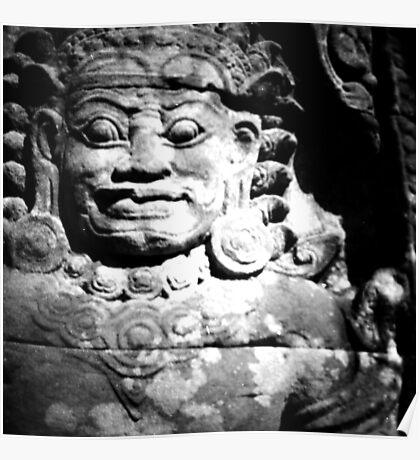 stone spirit, siem reap, cambodia Poster