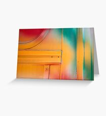 Red Green and Yellow Greeting Card