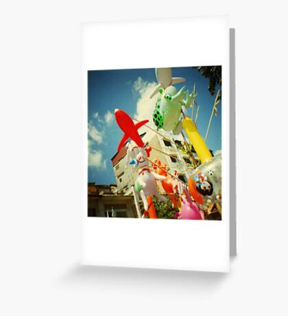 plastic joy, phnom penh, cambodia Greeting Card