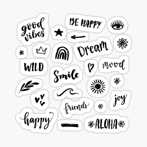 Funny stickers quotes pack Sticker