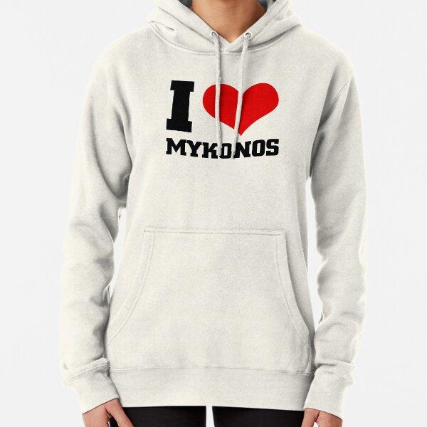 I Love Heart Mykonos Black Sweatshirt