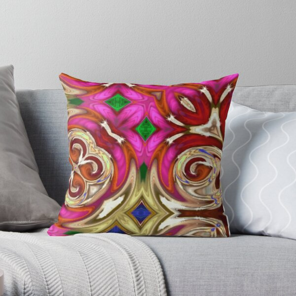Hint of Pink Throw Pillow