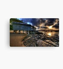 Light & Textures - Paradise Beach, Sydney - The HDR EXperience Canvas Print