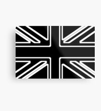 Black & White Union Flag Metal Print