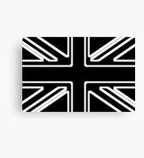 Black & White Union Flag Canvas Print
