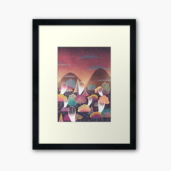 Ghosts n Trees Framed Art Print