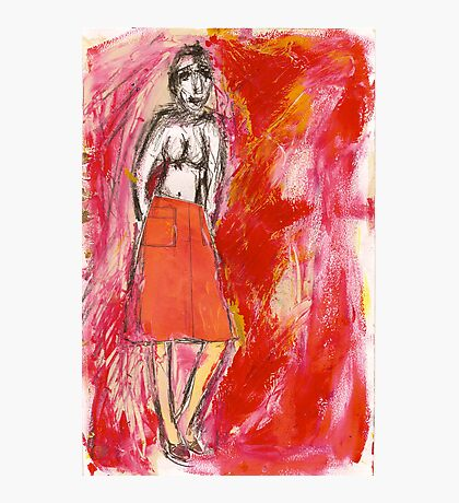 nude in red, 2011 Photographic Print