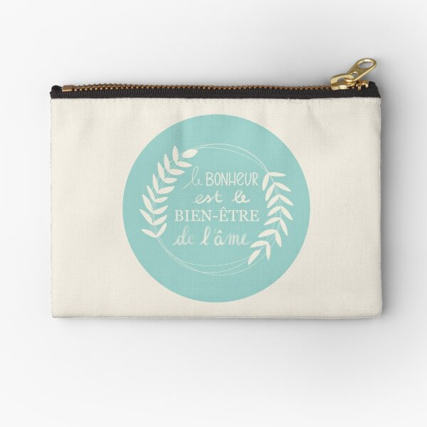 Happiness / Well-being / Soul Zipper Pouch