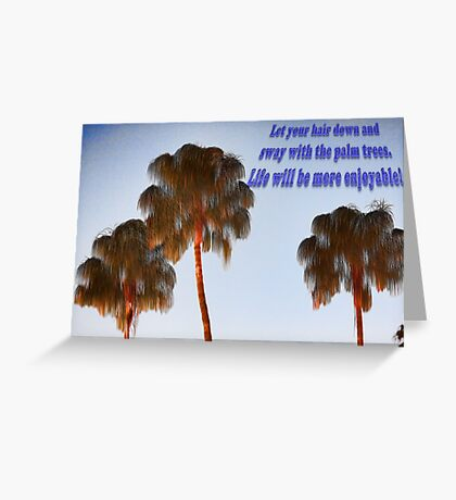 Hairy Palm Trees Greeting Card