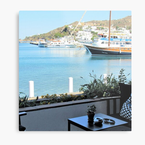 Relaxing By The Port Metal Print
