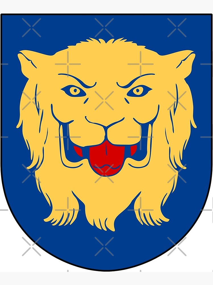 Coat Of Arms Of Linkoping Municipality Sweden Greeting Card By Vloo77 Redbubble