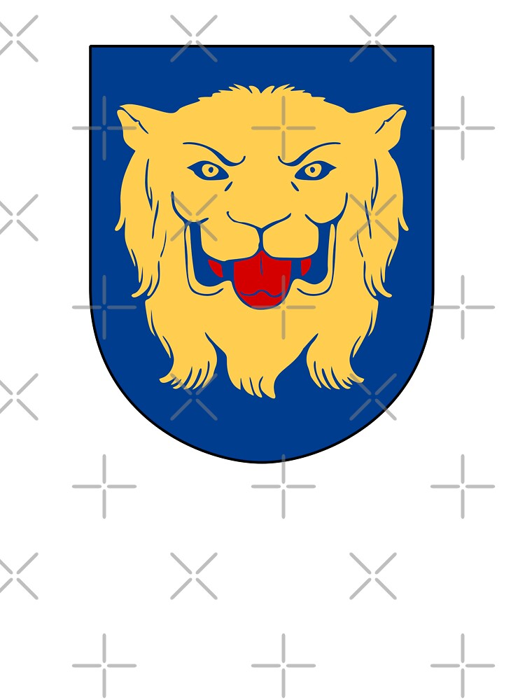Coat Of Arms Of Linkoping Municipality Sweden Baby One Piece By Vloo77 Redbubble