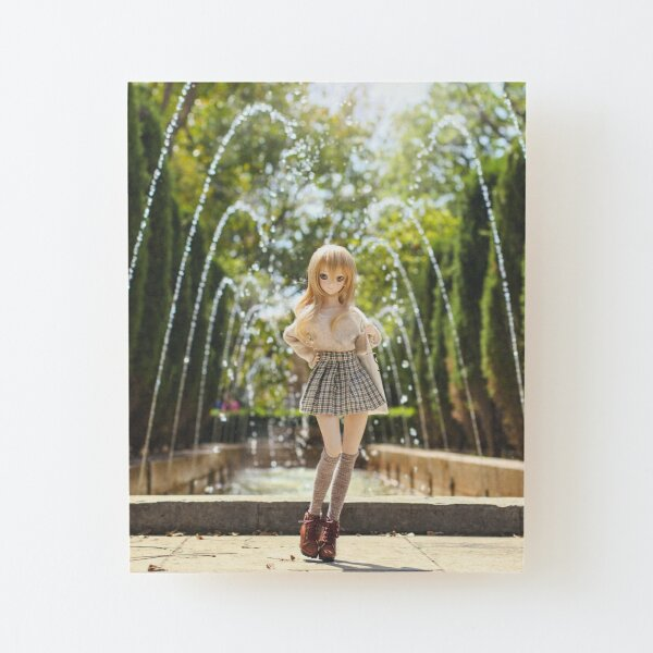 In the park · Coco Wood Mounted Print