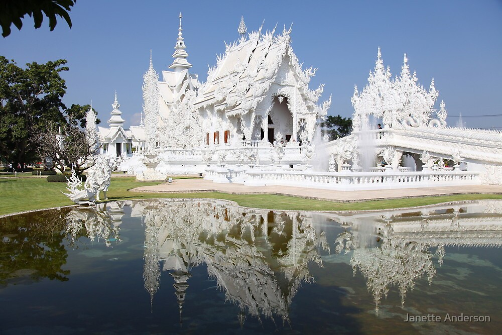 Quot White Palace Chiang Rai Quot By Janette Anderson Redbubble