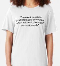 Kent Corruption Quote - tRump Impeachment Hearings Slim Fit T-Shirt