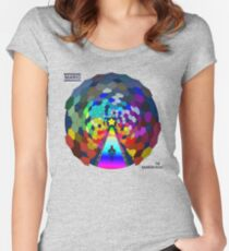 The rainbow road Women's Fitted Scoop T-Shirt